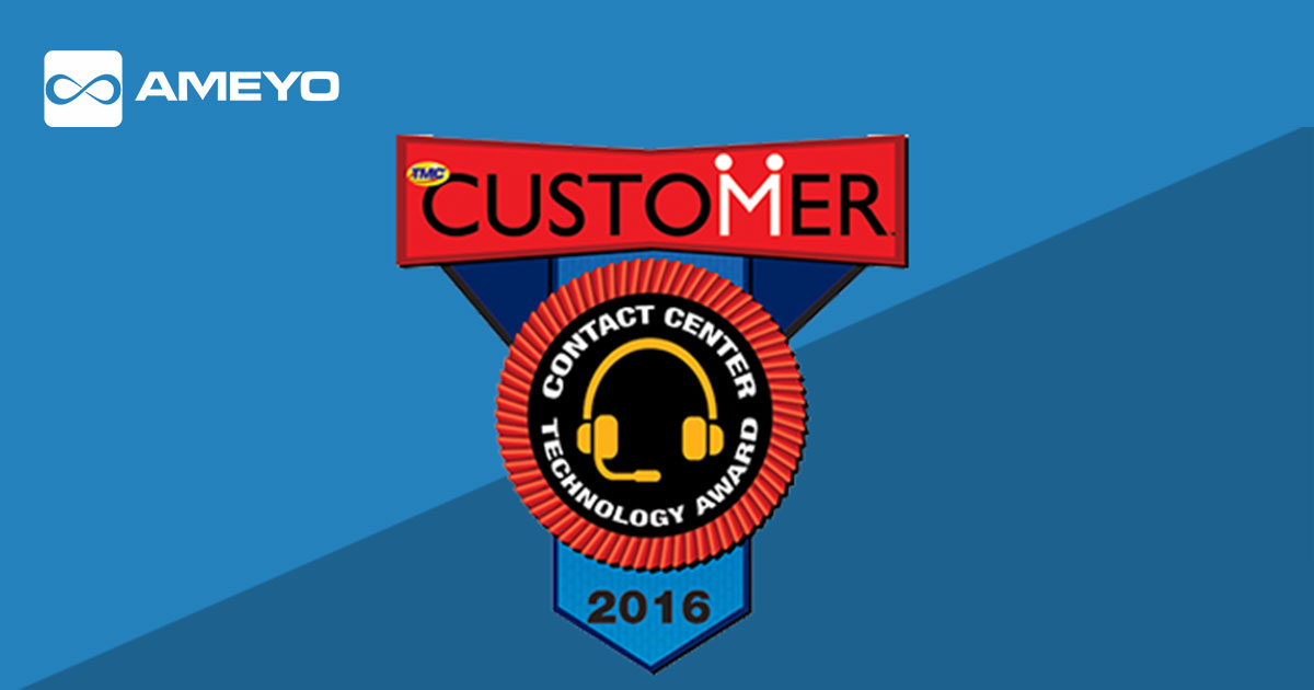 Ameyo Brings Home the Contact Center Technology Award for the Fifth Consecutive Year