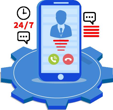 Provide customer service through phone
