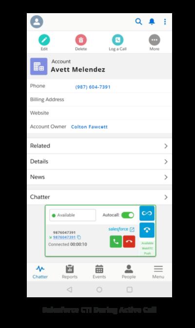 Salesforce CTI During Active Call